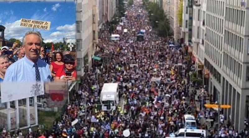 Berlin : discours historique de Robert Kennedy Jr durant la manifestation anti-masque et anti-totalitaire